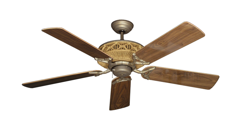 "Picture of Tiki Antique Bronze with 52"" Walnut Gloss Blades"