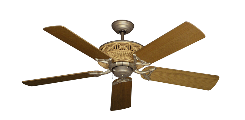 "Picture of Tiki Antique Bronze with 52"" Light Oak Blades"