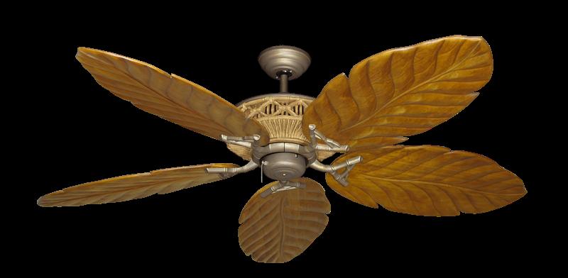 "Picture of Tiki Antique Bronze with 58"" Series 100 Arbor Oak Blades"