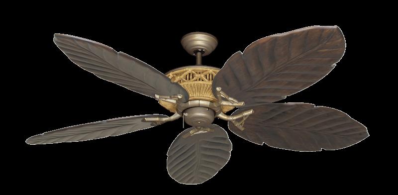 """Picture of Tiki Antique Bronze with 58"""" Series 100 Arbor Dark Walnut Blades"""