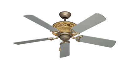 "Picture of Tiki Antique Bronze with 52"" Outdoor Brushed Nickel Blades"