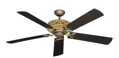 "Picture of Tiki Antique Bronze with 60"" Outdoor Oil Rubbed Bronze Blades"