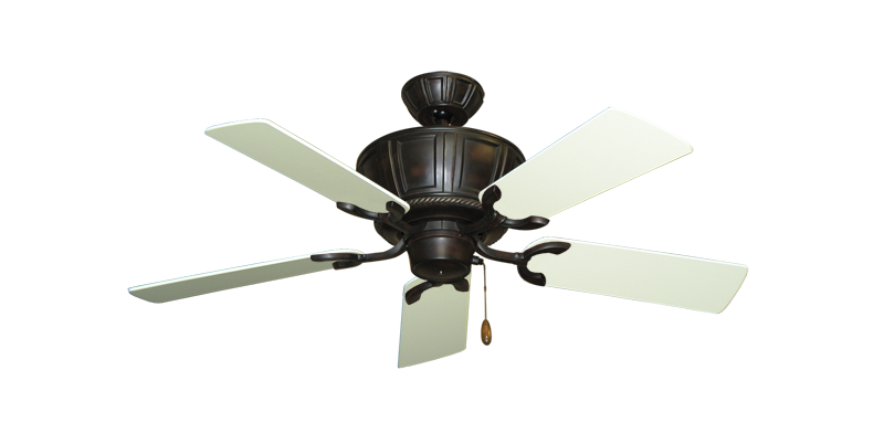 """Picture of Centurion Oil Rubbed Bronze with 44"""" Antique White Blades"""