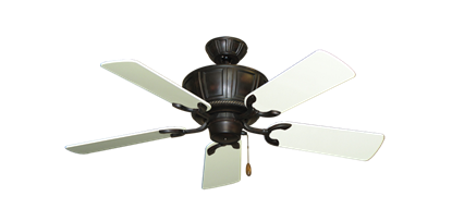 "Picture of Centurion Oil Rubbed Bronze with 44"" Antique White Gloss Blades"