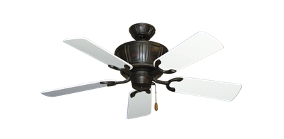 "Picture of Centurion Oil Rubbed Bronze with 44"" Pure White Gloss Blades"