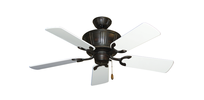 """Centurion Oil Rubbed Bronze with 44"""" Pure White Gloss Blades"""