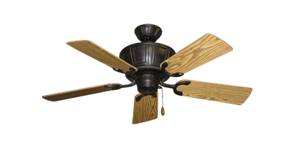 """Centurion Oil Rubbed Bronze with 44"""" Oak Gloss Blades"""
