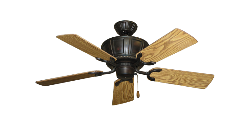 "Centurion Oil Rubbed Bronze with 44"" Oak Gloss Blades"