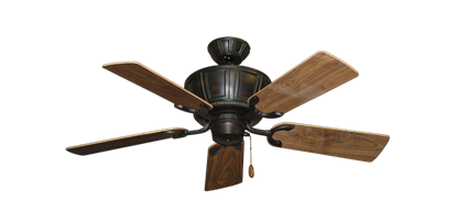 "Picture of Centurion Oil Rubbed Bronze with 44"" Walnut Gloss Blades"