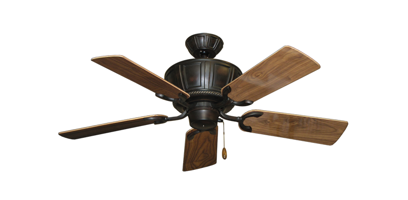 """Picture of Centurion Oil Rubbed Bronze with 44"""" Walnut Gloss Blades"""