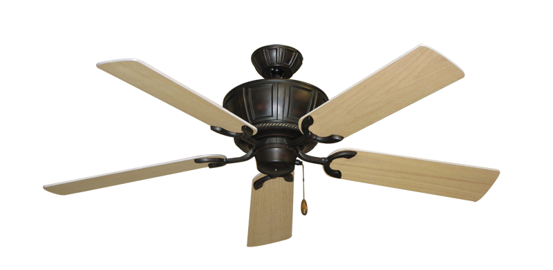 "Picture of Centurion Oil Rubbed Bronze with 52"" UnMotor Finished Oak Blades"