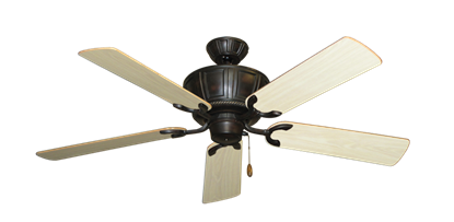 "Picture of Centurion Oil Rubbed Bronze with 52"" Bleached Oak Gloss Blades"