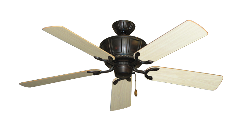 """Picture of Centurion Oil Rubbed Bronze with 52"""" Bleached Oak Gloss Blades"""