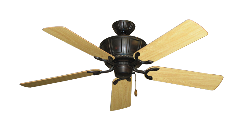 "Picture of Centurion Oil Rubbed Bronze with 52"" Honey Oak Gloss Blades"