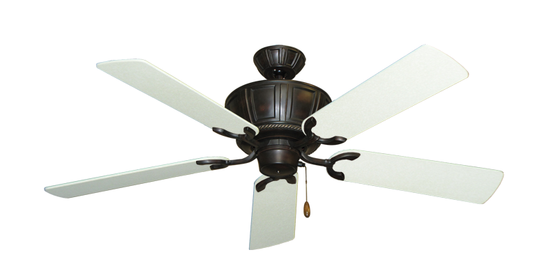 "Centurion Oil Rubbed Bronze with 52"" Navajo White Blades"