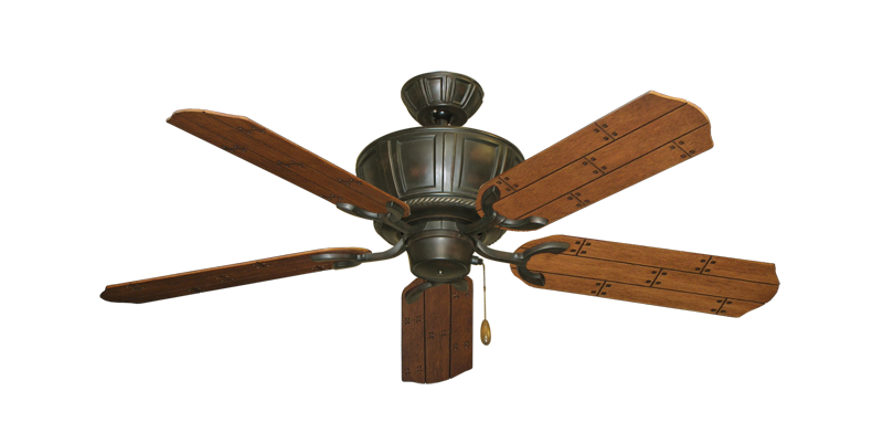 """Picture of Centurion Oil Rubbed Bronze with 52"""" Cherry Plank Blades"""