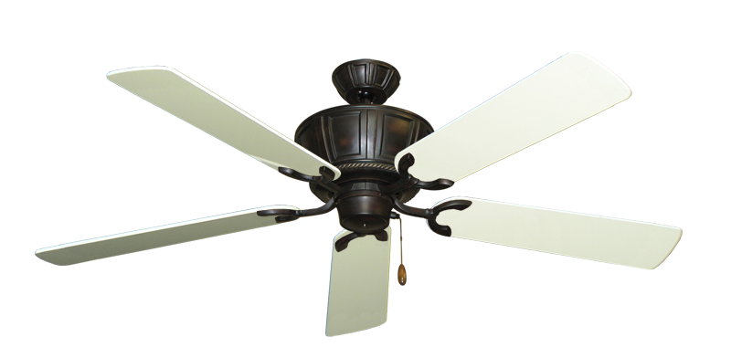 "Picture of Centurion Oil Rubbed Bronze with 56"" Antique White Gloss Blades"