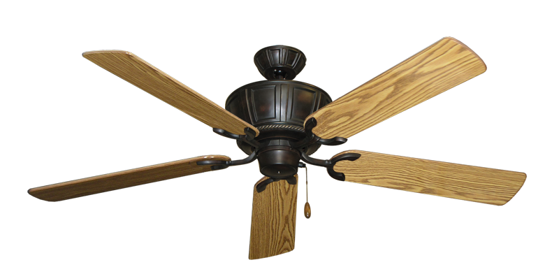 """Picture of Centurion Oil Rubbed Bronze with 56"""" Oak Gloss Blades"""