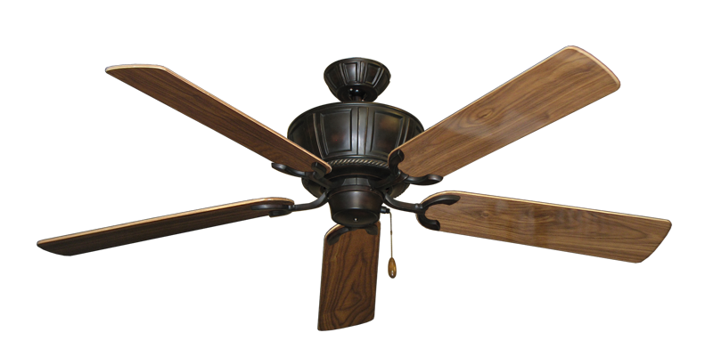 """Picture of Centurion Oil Rubbed Bronze with 56"""" Walnut Gloss Blades"""