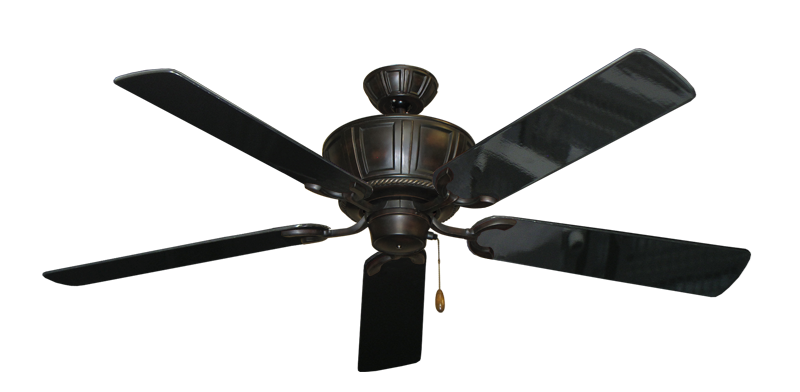 """Picture of Centurion Oil Rubbed Bronze with 56"""" Black Gloss Blades"""