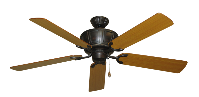 """Picture of Centurion Oil Rubbed Bronze with 56"""" Teak Blades"""