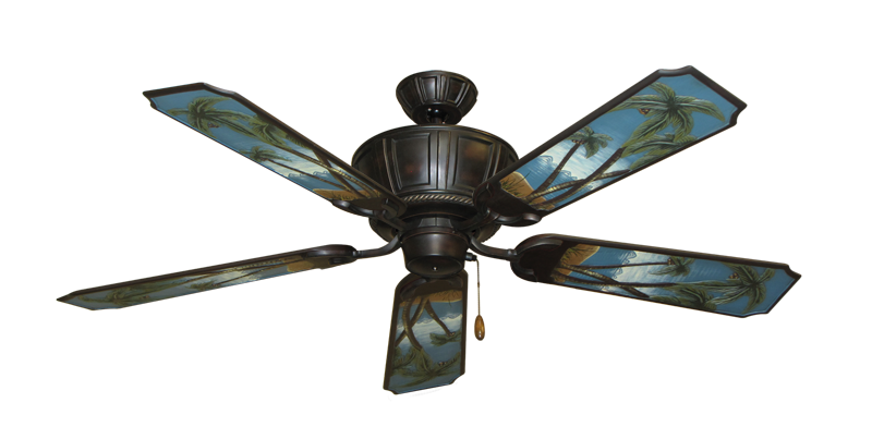 "Picture of Centurion Oil Rubbed Bronze with 52"" Series 351 Arbor Palm Tree Blades"