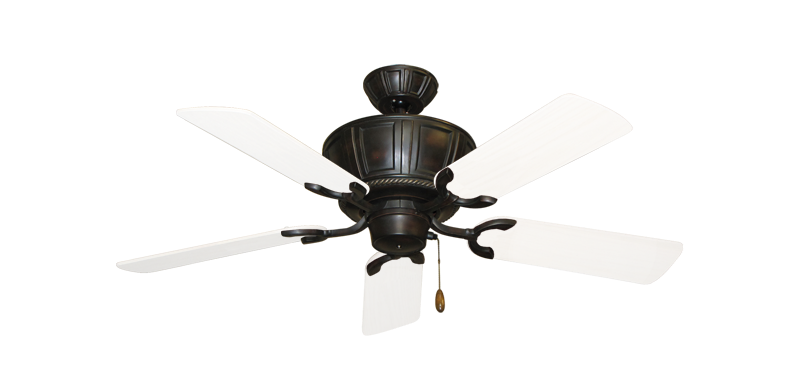 "Picture of Centurion Oil Rubbed Bronze with 44"" Outdoor Pure White Blades"