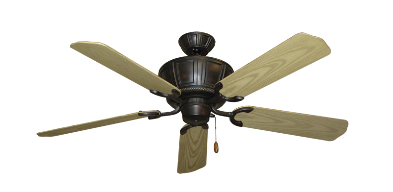 """Centurion Oil Rubbed Bronze with 52"""" Outdoor Bleached Oak Blades"""