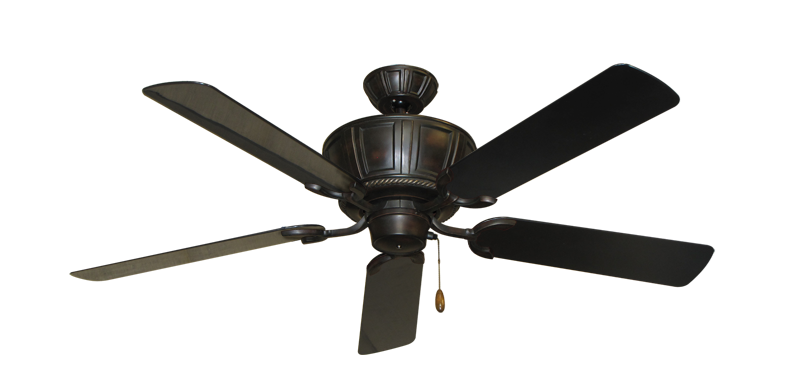 """Centurion Oil Rubbed Bronze with 52"""" Outdoor Black Blades"""