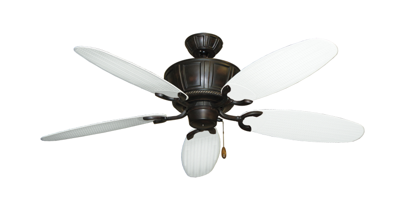 "Picture of Centurion Oil Rubbed Bronze with 52"" Outdoor Wicker Pure White Blades"