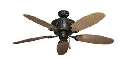 "Picture of Centurion Oil Rubbed Bronze with 52"" Outdoor Leaf Tan Blades"