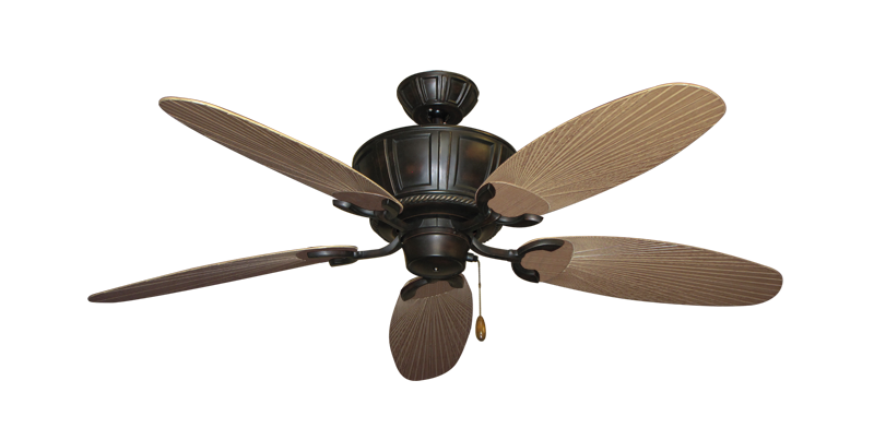 """Picture of Centurion Oil Rubbed Bronze with 52"""" Outdoor Leaf Tan Blades"""