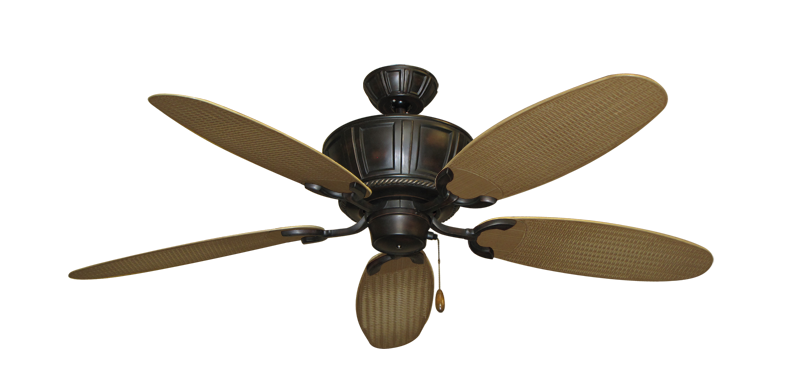 "Picture of Centurion Oil Rubbed Bronze with 52"" Outdoor Wicker Tan Blades"