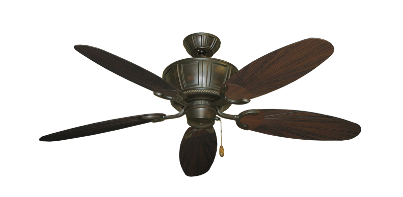 """Centurion Oil Rubbed Bronze with 52"""" Outdoor Leaf Oil Rubbed Bronze Blades"""