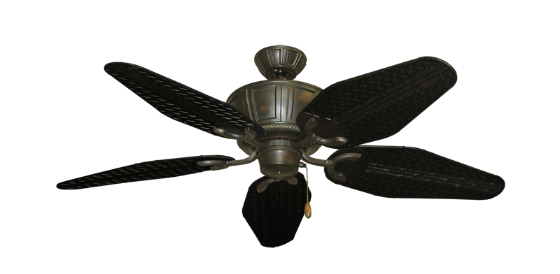 """Centurion Oil Rubbed Bronze with 52"""" Outdoor Weave Oil Rubbed Bronze Blades"""