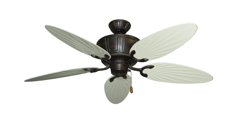 "Picture of Centurion Oil Rubbed Bronze with 52"" Outdoor Palm Antique White Blades"