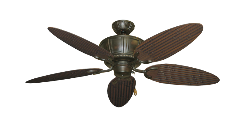 "Centurion Oil Rubbed Bronze with 52"" Outdoor Bamboo Oil Rubbed Bronze Blades"