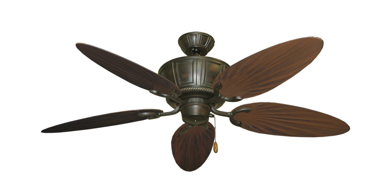 "Centurion Oil Rubbed Bronze with 52"" Outdoor Palm Oil Rubbed Bronze Blades"