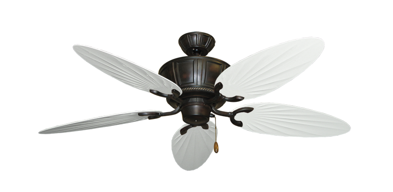 "Picture of Centurion Oil Rubbed Bronze with 52"" Outdoor Palm Pure White Blades"