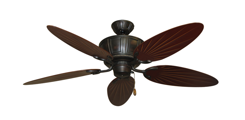 "Centurion Oil Rubbed Bronze with 52"" Outdoor Palm Wine Blades"