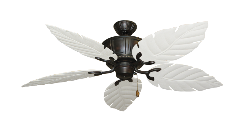 "Centurion Oil Rubbed Bronze with 52"" Venetian Pure White Blades"