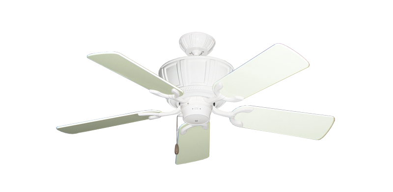 """Centurion Pure White with 44"""" Antique White Gloss Blades"""
