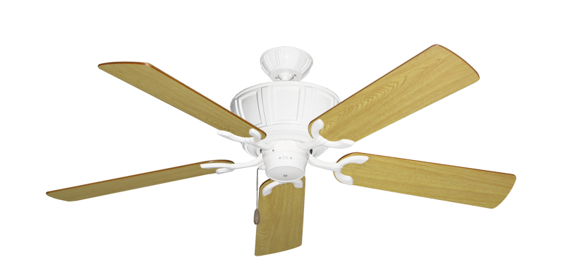 """Picture of Centurion Pure White with 52"""" Honey Oak Blades"""