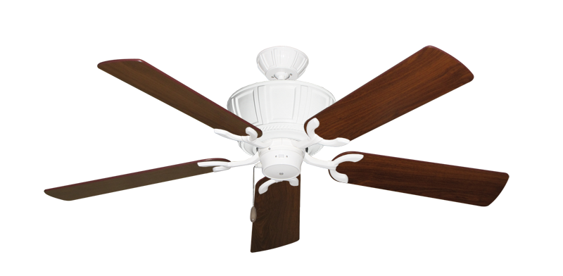 """Picture of Centurion Pure White with 52"""" Walnut Blades"""