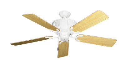 """Picture of Centurion Pure White with 52"""" Honey Oak Gloss Blades"""