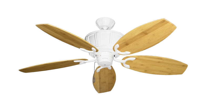 """Picture of Centurion Pure White with 52"""" Oar Bamboo Brown Blades"""