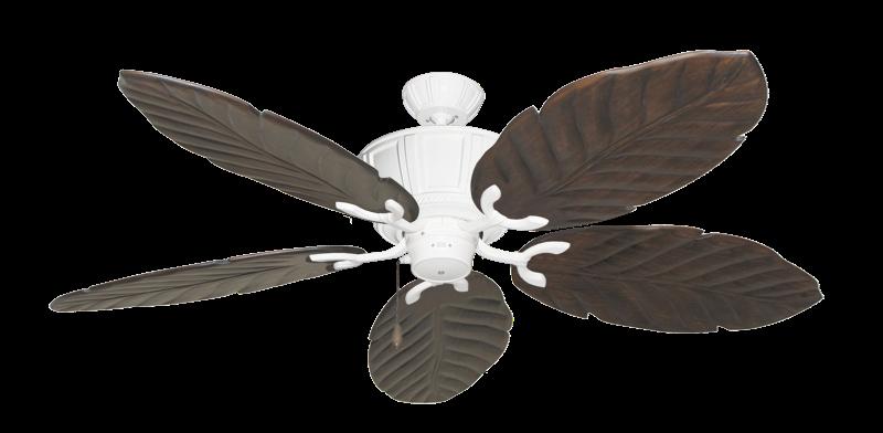 "Picture of Centurion Pure White with 58"" Series 100 Arbor Dark Walnut Blades"