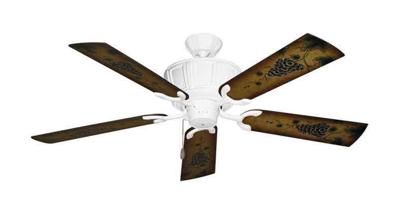 """Picture of Centurion Pure White with 52"""" Series 353 Arbor Grapes Blades"""