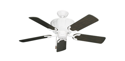 """Picture of Centurion Pure White with 44"""" Outdoor Oil Rubbed Bronze Blades"""