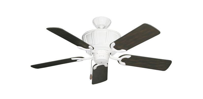 """Centurion Pure White with 44"""" Outdoor Oil Rubbed Bronze Blades"""
